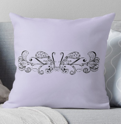 Whimsical Butterflies on a throw pillow