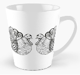Turkey Time mug by Amy Brown of Mastiff Studios