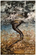 Twister on the Colorado Plains by Amy Brown of Mastiff Studios print image